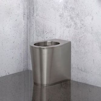 H&L Stainless Steel Back-to-Wall Floorstanding WC Pan